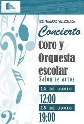 Concierto del Coro y la Orquesta escolar del IES Navarro Villoslada